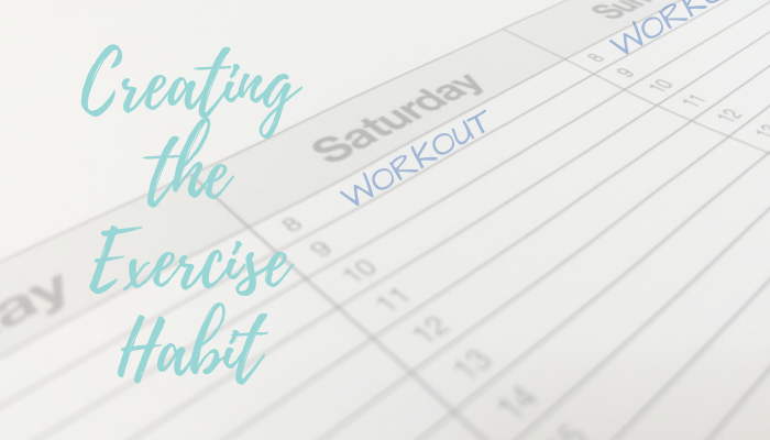 Creating the exercise habit